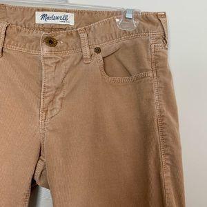 Madewell | Tan Corduroy Rail Straight Pants 26